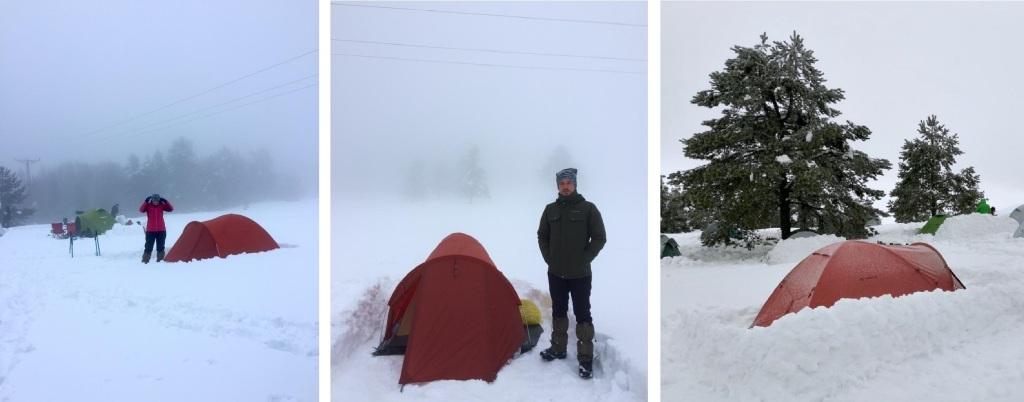 Bolu Abant Dağları kar kampı